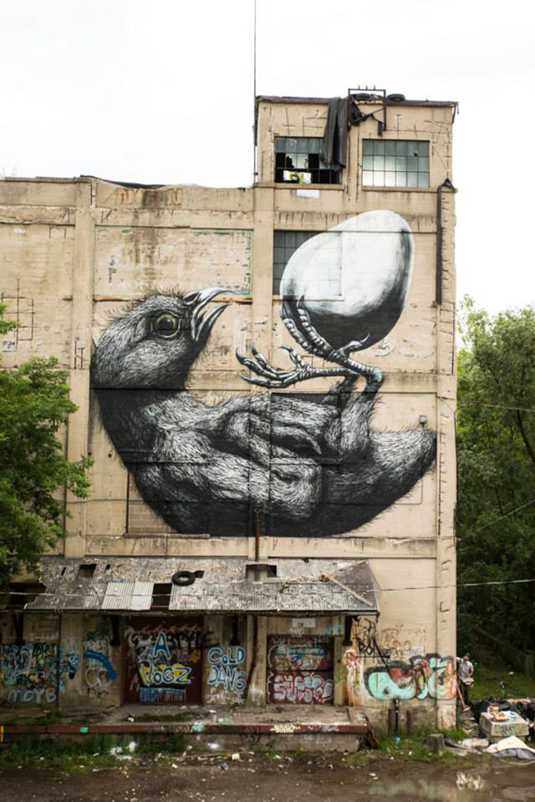 Another wall from Roa at Wall Therapy