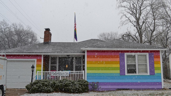 Planting Peace paints rainbow house across from Westboro Baptist Church
