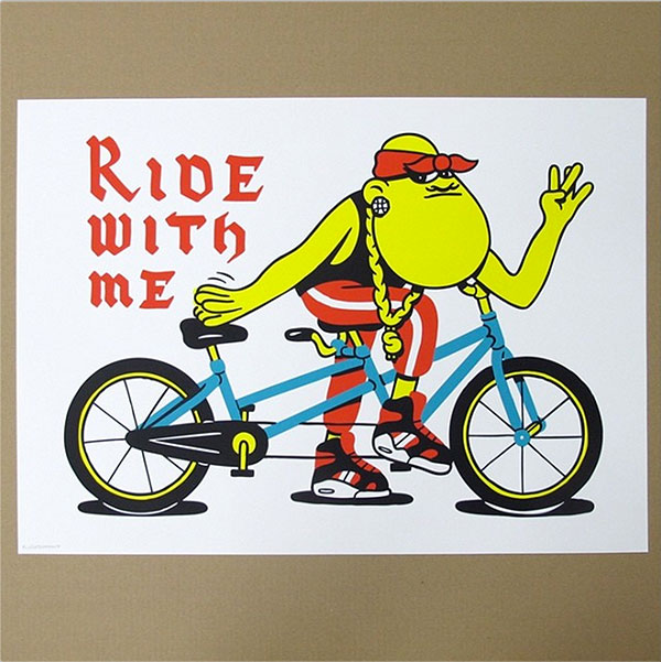 """Ride With Me"" print by Husk Mit Navn"