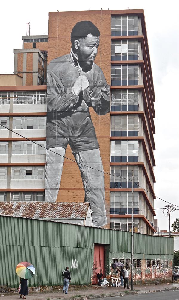 Freddy Sam Nelson Mandela Mural