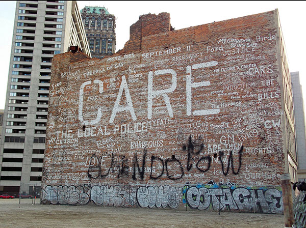 "Graffiti writers often don't ""Care"""