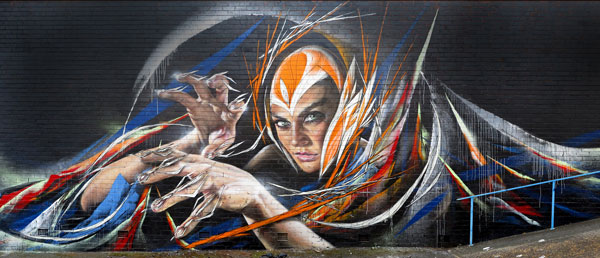 Shida x Adnate wall in Australia