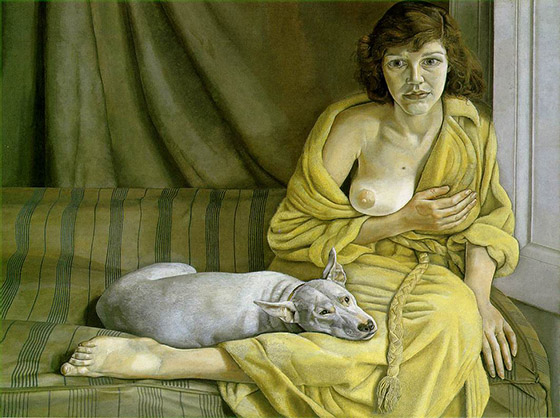 Lucien Freud: Girl with a White Dog