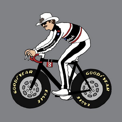 dale-ernhart-on-bike-with-nascar-wheels