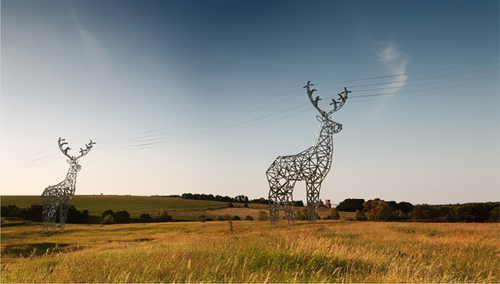 deer-shaped-pylons