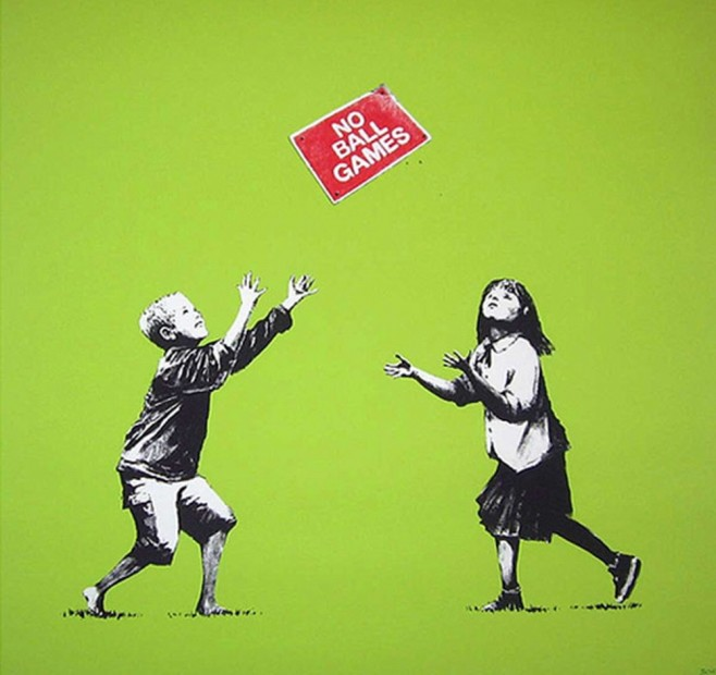 Steal-Banksy-no-ball-games-658x620
