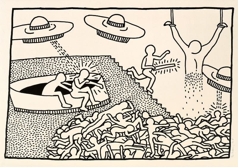 Juxtapoz magazine keith haring the blueprint drawings pace juxtapoz magazine keith haring the blueprint drawings pace prints nyc malvernweather Image collections