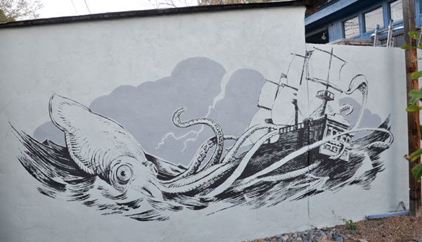 Why not decorate your own Giant Squid Attacking Ship