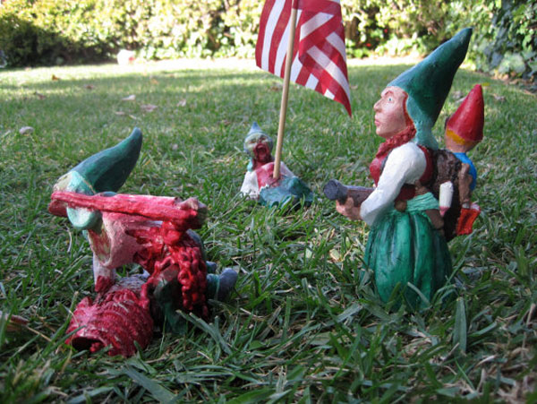 Juxtapoz Magazine - Flesh-eating zombie garden gnomes