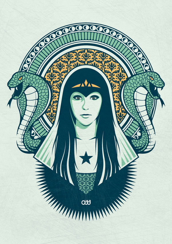 Princess-of-snakesNew-illustration-ready-to-be-screenprinted-on-poster-and-teesodd-house.com-_-shop.odd-house.com