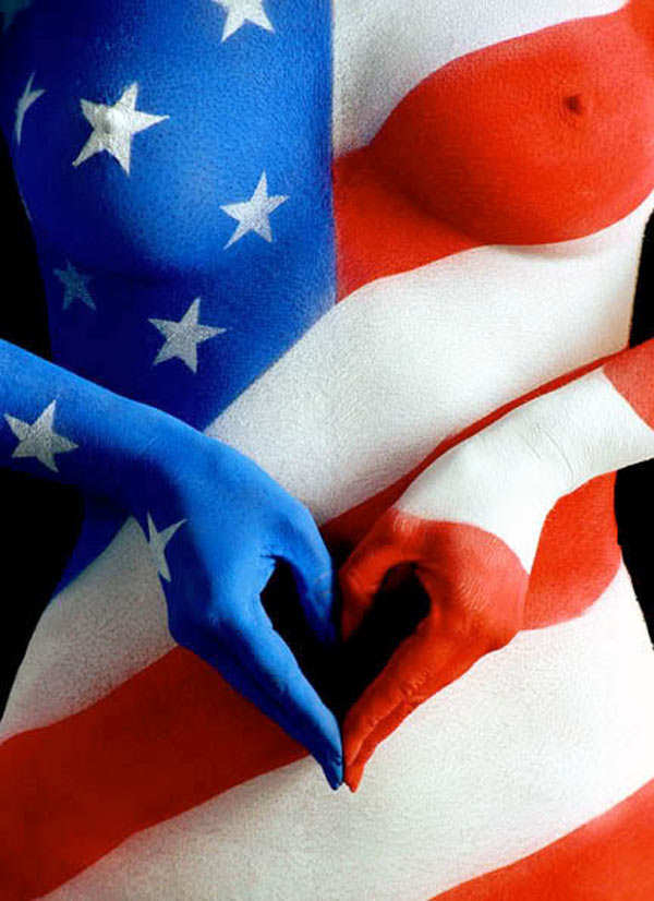 AmericanFlag_BodyPaint