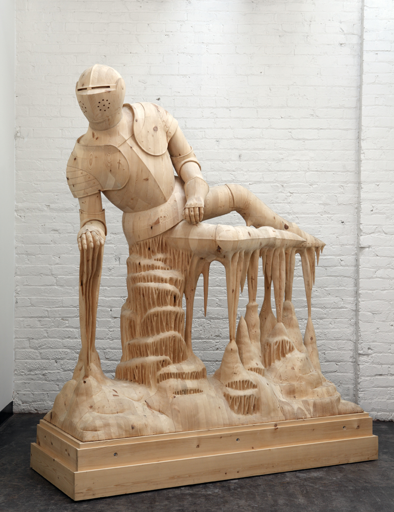 Hand-Carved Wood Sculptures by Morgan Herrin : Knight2012_1_L.jpg