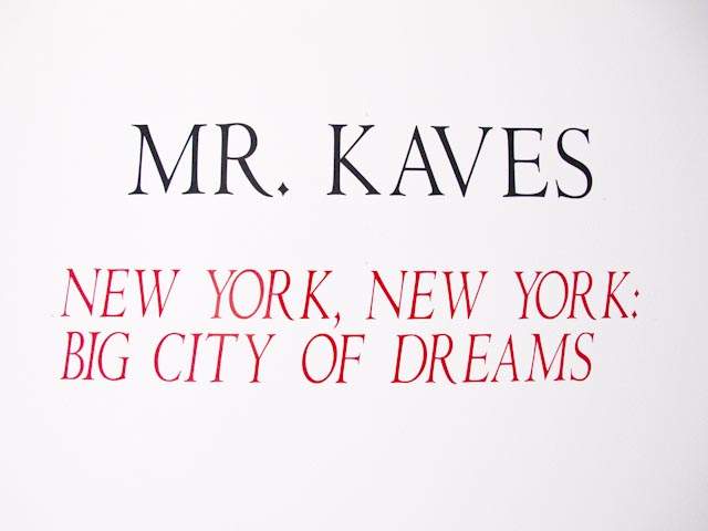 Opening Photos: Mr Kaves at Hionas Gallery NYC: kaves_1_20110718_1649463731.jpg