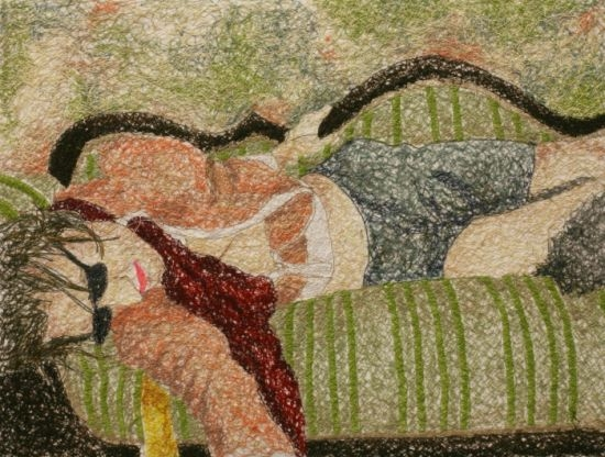 Embroidered Canvases by Nike Schroeder: nike_schroeder_1_20110807_1675784235.jpg