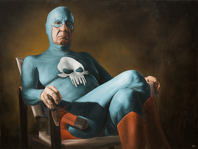 Best of 2013: Portraits of an Elderly Superhero by Andreas Englund: Juxtapoz-AndreasEnglund-07.jpg