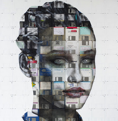 Floppy Disks, Reassembled for Portraits by Nick Gentry: nick_gentry_5_20111205