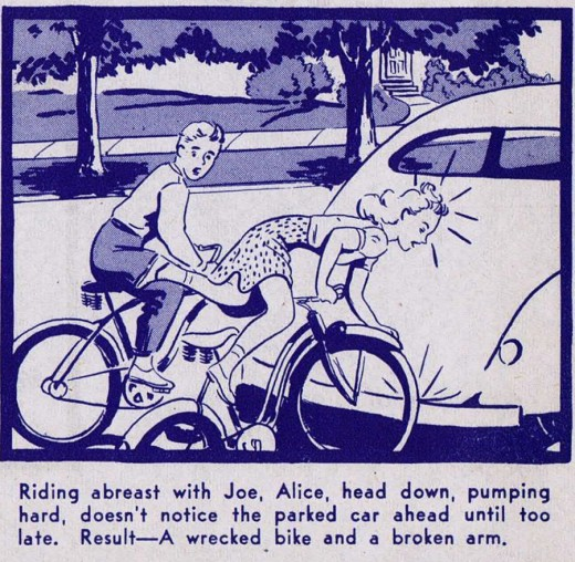 """A Ride of Death"" Bicycle Safety Manual circa 1940s: a_ride_of_death_11_20120229_1882095741.jpg"