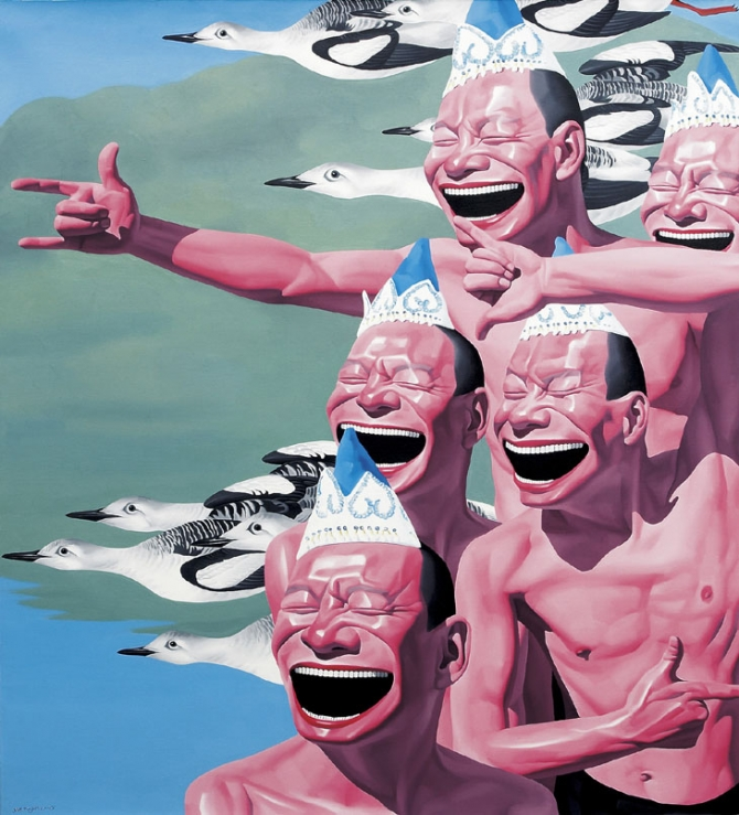 The Work of Yue Minjun: yue_minjun_1_20120309_1728133531.jpg