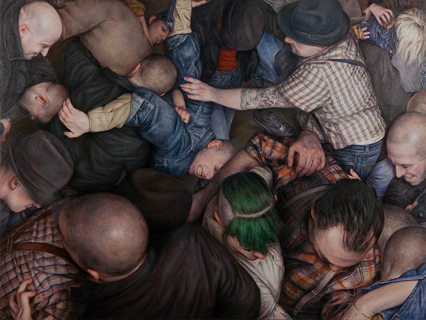 Dan Witz's Mosh Pit Paintings: byronesque-2-30x40-flat-copy.jpg