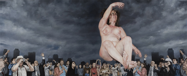 The Work of Chelsey Tyler Wood: 01_Untitled Crowd Painting_34in x 84in_oil on canvas_2012.jpg