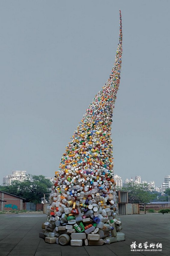 Thrown to the Wind: 36 Feet of Garbage by Beijing's Wang Zhiyuan: Wang-Zhiyuan-installation6.jpg
