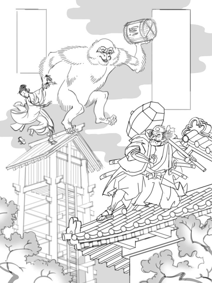 Nintendo Characters in Ukiyo-e Style by Jed Henry: jed_henry_1_20120528_1132656655.jpg