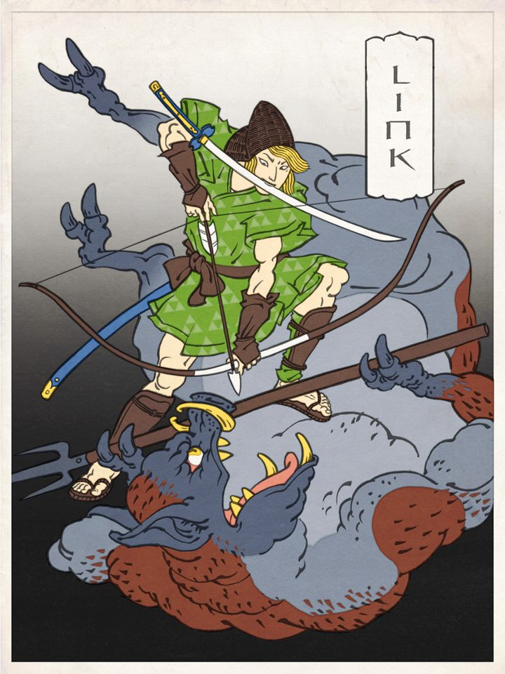 Nintendo Characters in Ukiyo-e Style by Jed Henry: jed_henry_3_20120528_1428648261.jpg