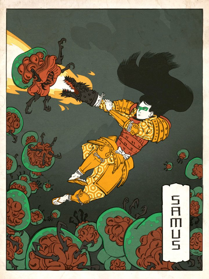 Nintendo Characters in Ukiyo-e Style by Jed Henry: jed_henry_8_20120528_1805899497.jpg