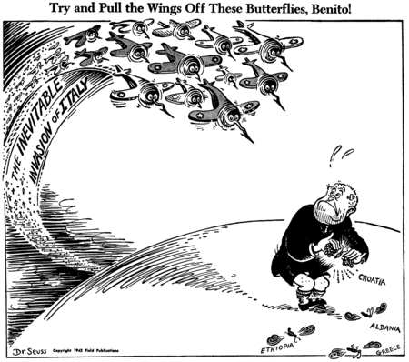 Juxtapoz Magazine - Dr  Seuss's WWII Political Cartoons
