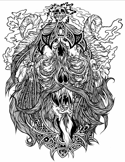 Gnarly Illustrations by Scarecrowoven: scarecrowoven_1_20120626_1483245830.jpeg