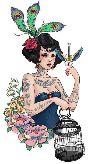 Tattooed Pin-Ups by Rudy-Jan Faber: rudy-jan_faber_tattoo_12_20120628_1300306623.jpg