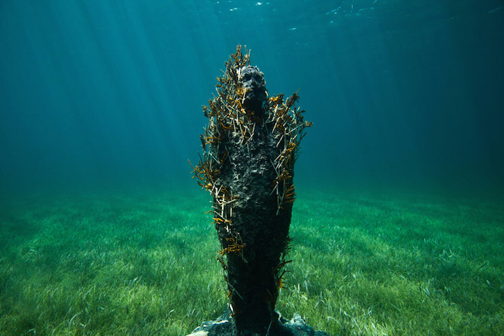 Jason deCaires Taylor's Submerged Figurative Sculptures House Thriving Coral Reefs: Juxtapoz-UnderwaterSculpture08.jpg