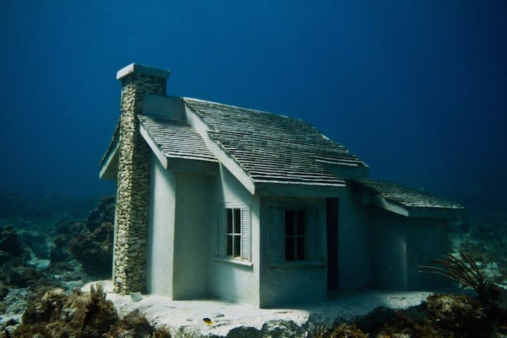 Jason deCaires Taylor's Submerged Figurative Sculptures House Thriving Coral Reefs: Juxtapoz-UnderwaterSculpture12.jpg