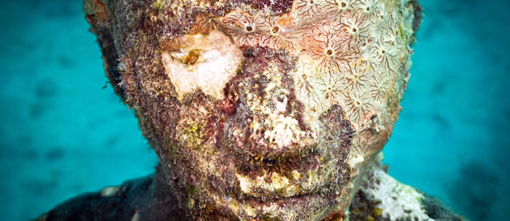 Jason deCaires Taylor's Submerged Figurative Sculptures House Thriving Coral Reefs: Juxtapoz-UnderwaterSculpture16.jpeg