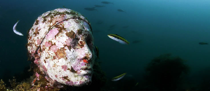 Jason deCaires Taylor's Submerged Figurative Sculptures House Thriving Coral Reefs: Juxtapoz-UnderwaterSculpture17.jpeg