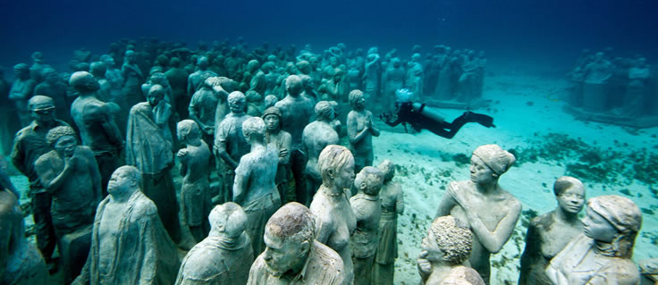 Jason deCaires Taylor's Submerged Figurative Sculptures House Thriving Coral Reefs: Juxtapoz-UnderwaterSculpture18.jpeg