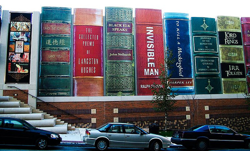 Kansas City Library Parking Garage Turned Into Gigantic Books: kansas_city_library_parking_garage_4_20120709_1584277287.jpg
