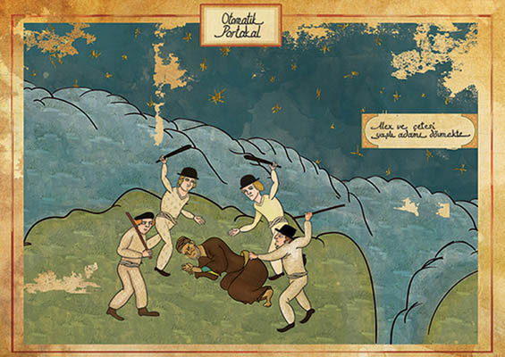 Murat Palta: Your Favorite Cult Film in Ottoman Style: ottoman-A-Clockwork-Orange.jpg