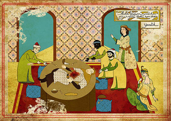 Murat Palta: Your Favorite Cult Film in Ottoman Style: ottoman-Alien.jpg