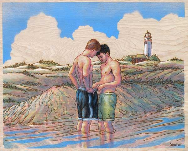 Homoerotic Pyrography by Robert Sherer: robert_sherer_15_20120719_1039793686.jpeg