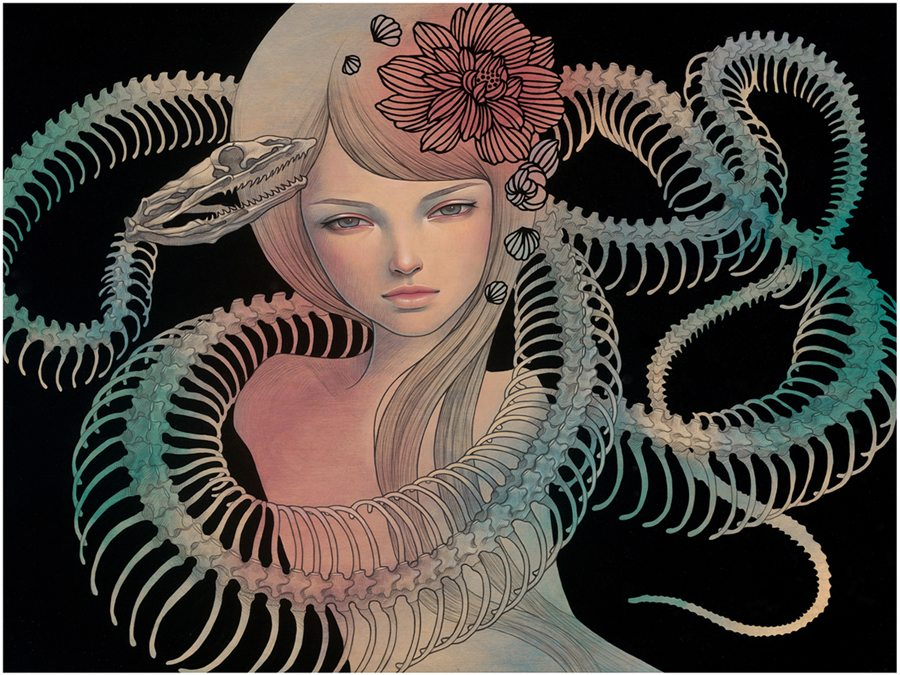 "Preview: Audrey Kawasaki ""Midnight Reverie"" @ Jonathan LeVine Gallery, NYC: audrey_k_new_3_20120830_1466548899.jpg"