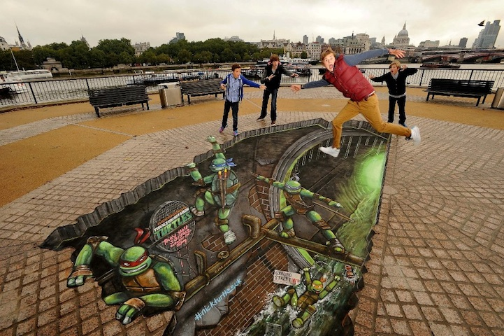 Teenage Mutant Ninja Turtles 3D Street Painting by Joe & Max: joe_max_tmnt_1_20121014_1730045137.jpeg