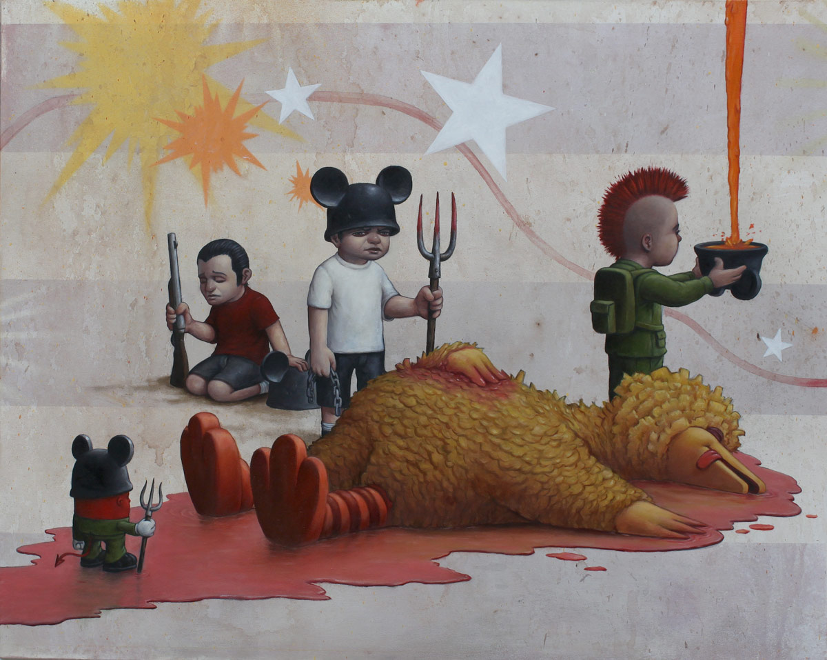 "Preview: Bob Dob ""Mouseketeer Army"" @ La Luz de Jesus, Los Angeles: bob_dob_13_20121101_1960992277.jpg"