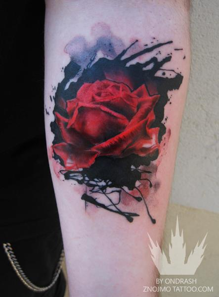 Painterly Tattoos by Ondra