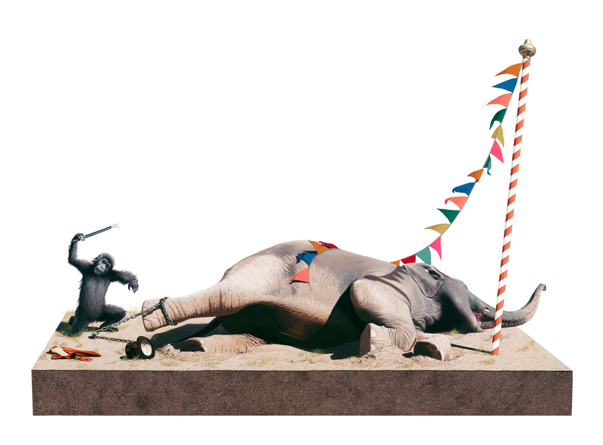 "Preview: Josh Keyes ""The Circus and The Sea"" @ Roq La Rue, Seattle: keyes_roq_6_20121108_1136027692.jpg"