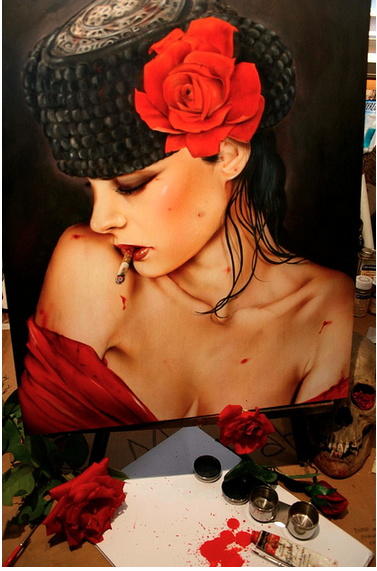 "Brian Viveros ""War of the Roses"" @ SCOPE Miami w/Thinkspace Gallery: viveros_war_of_the_roses_18_20121202_1676484993.png"