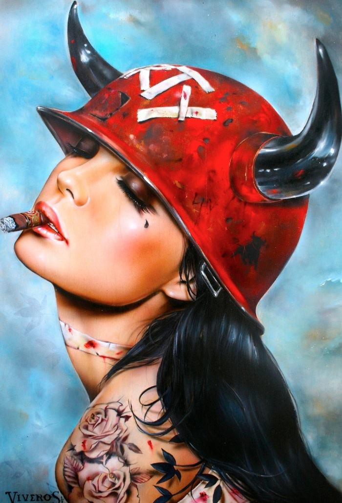 "Brian Viveros ""War of the Roses"" @ SCOPE Miami w/Thinkspace Gallery: viveros_war_of_the_roses_1_20121202_1838085404.jpeg"