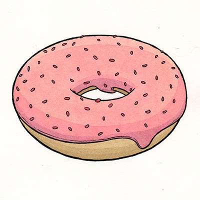 Drawing Experiment V: Donut Heaven : donuts_22_20121209_1116789702.jpeg