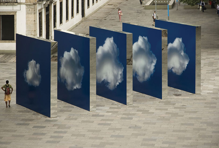 Clouds on the Street: Public Installation by Eduardo Coimbra: clouds_in_the