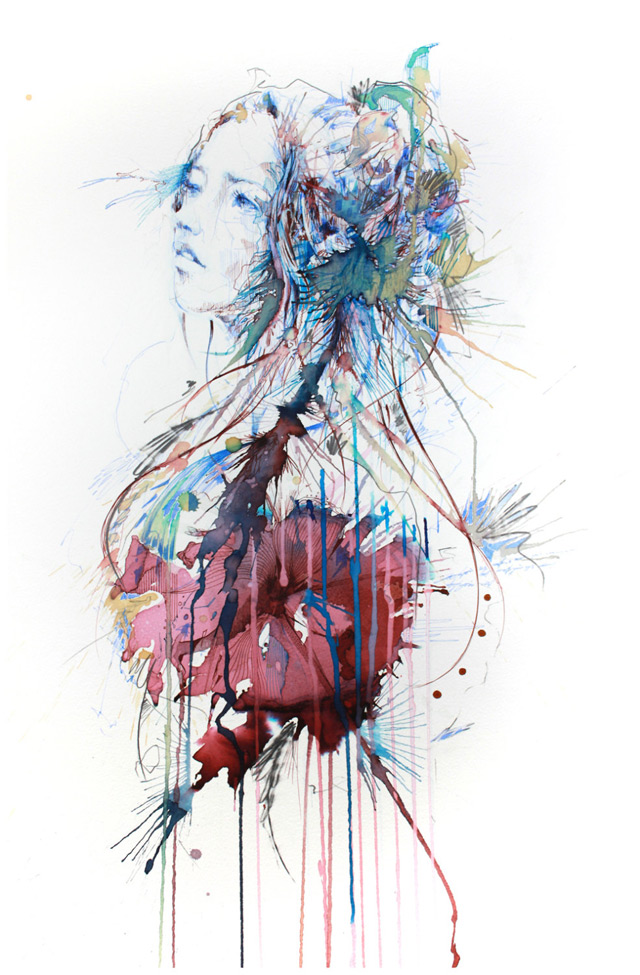 New works with tea, liquor, and coffee by Carne Griffiths: carne_griffiths_1_20130121_1614802075.jpg